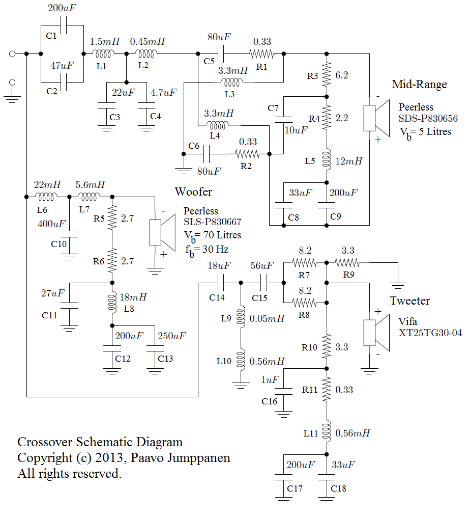 Loudspeaker System Design The Final Details Har Bal Sound Voice Recorder Circuit Schematic Crossover